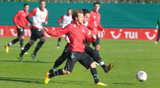 Beim freien Training der Roten (Hannover 96)