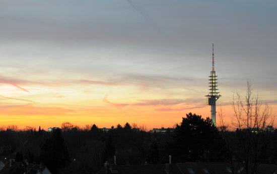 Sonnenaufgang an der Podbi in Hannover